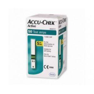 Accu chek active test strips – 50 bandelettes