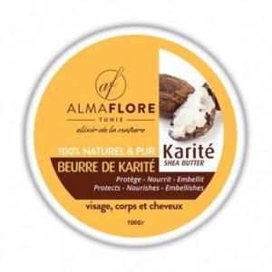 ALMAFLORE Beurre de Karité Brut BIO- 100 g