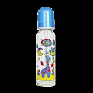 Baby pur biberon en verre bleu 240 ml