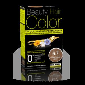 Beauty Hair color 6.7 blond foncé beige