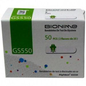 Boîte de bandelettes Glycémie – 50 Unités