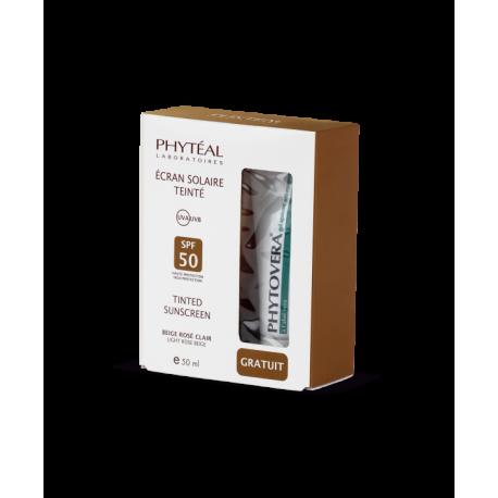 COFFRET PHYTÉAL ECRAN SOLAIRE BEIGE CLAIR + gel apaisant 3