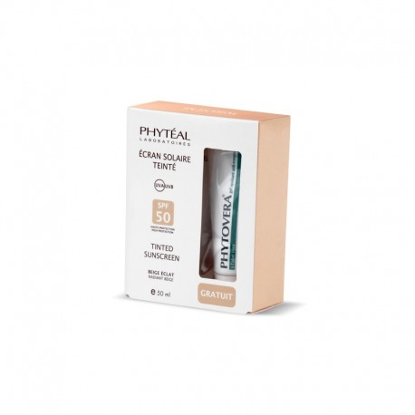 COFFRET PHYTÉAL ECRAN SOLAIRE BEIGE ECLAT + gel apaisant 3