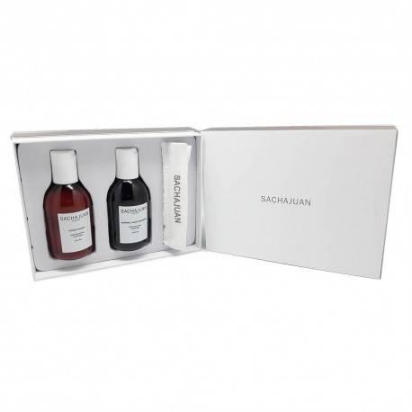 Coffret SACHAJUAN : shampooing + après-shampooing (cheveux normaux) + gant de toilette doux 3