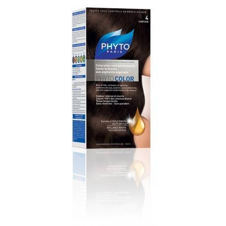 Coloration cheveux PhytoColor Chatin 4 3