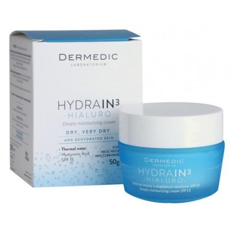 DERMEDIC HYDRAIN 3 CREME HYDRATANTE JOUR SPF 15 3