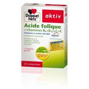 Doppelherz ACTIV ACIDE FOLIQUE VITAMINES B+C+E – 30 Comprimés