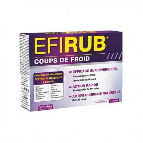 EFIRUB COUPS DE FROID, 16 SACHETS - 3C Pharma 3