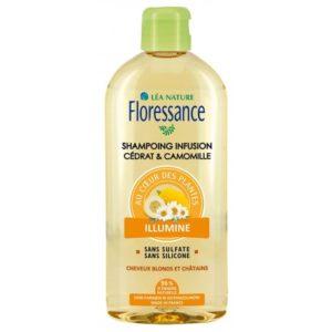 Floressance shampoing infusion cédrat et  camomille 500ml