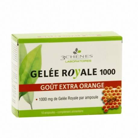 GELEE ROYALE 1000 mg DE 3 CHÊNES - 10 AMPOULES 3