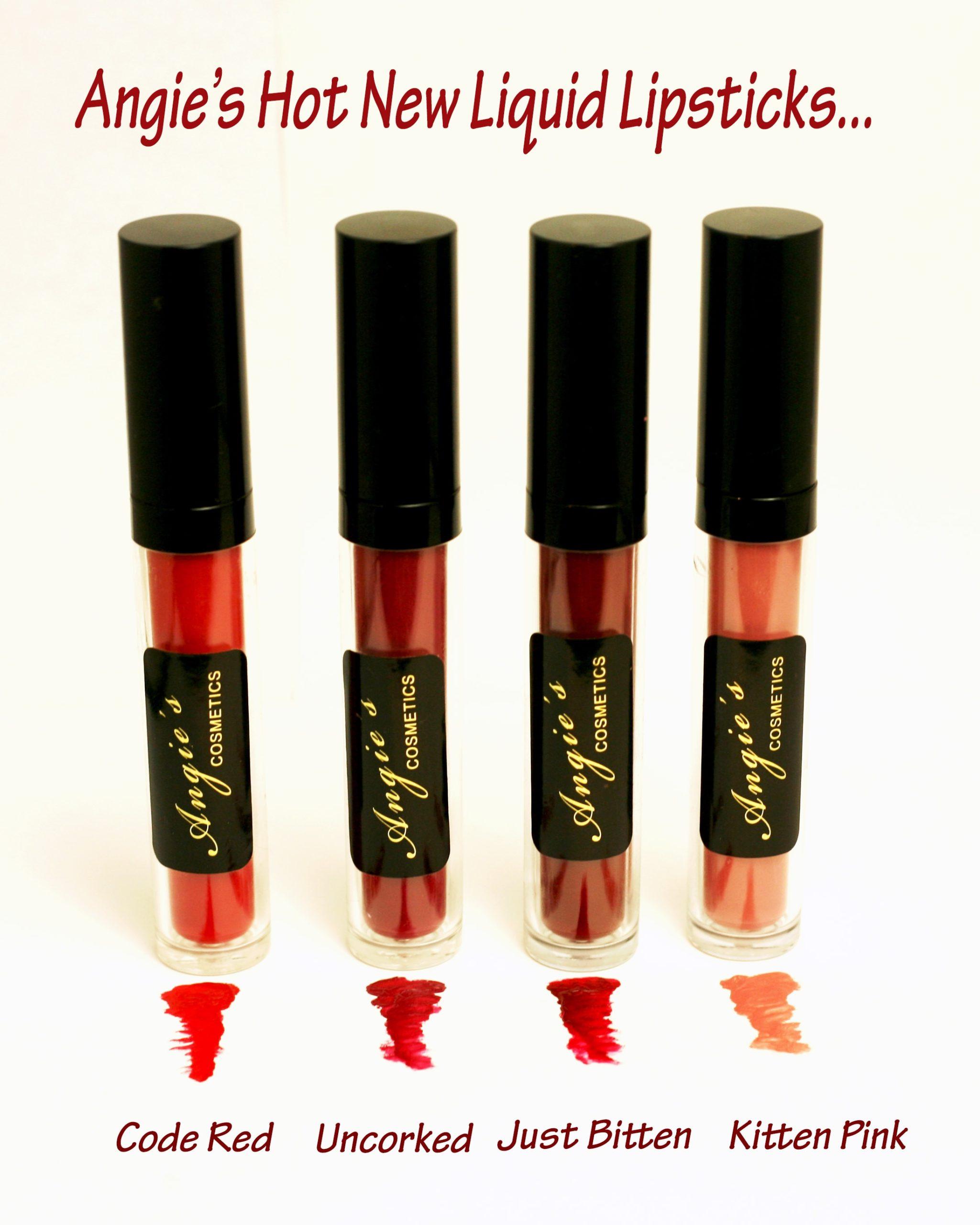 NOUVEAUX rouges à lèvres liquides d'Angie! – Angie's Cosmetics