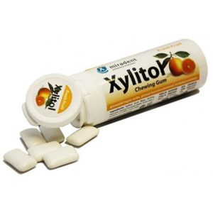 Miradent Xylitol chewing gum fruit