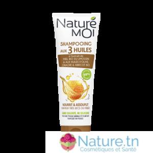 NATURE MOI SHAMPOOING AUX 3 HUILES – Cheveux très secs ou frisés 250ML