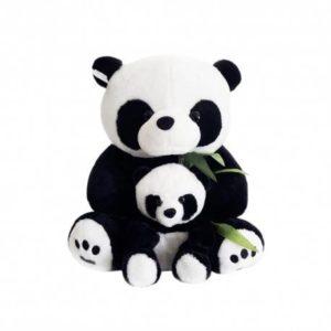 PANDA EN PELUCHE AVEC BEBE 50 cm