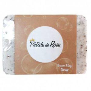 Savon artisanal à l'huile d'olive pure et à l'argile marron exfoliant pour visage et corps (80g) – Pétale de savon