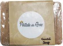 Pétale de Rose Savon artisanal à l'huile d'olive pure et au chocolat pour tous types de peau (80g)