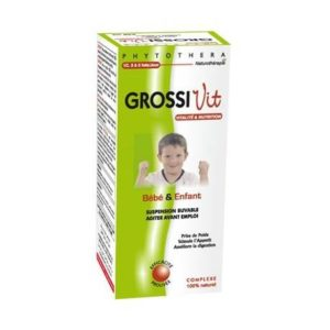 PHYTOTHERA GROSSIVIT SUSPENSION BUVABLE BEBE ET ENFANT – 240ML