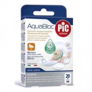 Pic aquabloc pansement 20 pcs mix