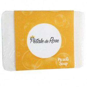 Savon artisanal à l'huile d'olive pure et à l'eau florale de Néroli éclaircissant pour peau sèche (80g) – Pétale de Rose