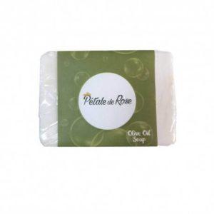 Savon artisanal à l'huile d'olive pure pour peau sensible et allergique (80g) – Pétale de Rose