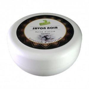 "Savon noir "" Jasmin "" 150 Gr Exfoliant & purifiant"