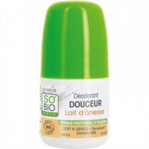 So bio deodorant douceur lait d'anesse peaux normales à fragiles