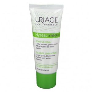 URIAGE HYSEAC 3 REGUL SOIN GLOBAL UNIVERSELLE SPF30 PEAUX GRASSES A IMPERFECTIONS 40ML