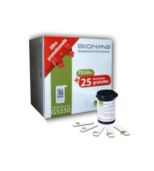 Bandelette  Bionime de 100 PCS 3