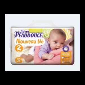 Couche Peaudouce Libero Nouveau Né T 2